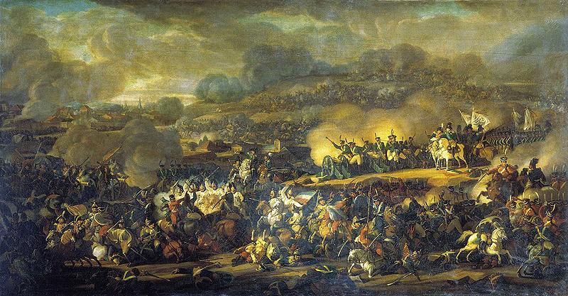 Битва під Лейпцігом 16 жовтня 1813 року. Художник: В.І.Мошков, 1815 р.