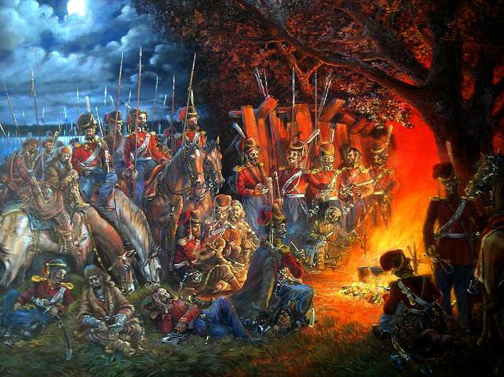 """Картина """"1812. Башкіри в гостях у козаків"""""""