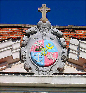 Надбрамний герб Дубенського замку