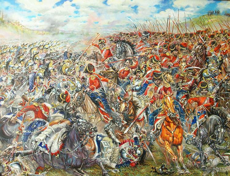 """Картина  """"Рятуй государя! Справа козаків у містечка Гюсель-Госси 4 жовтня 1813 року"""""""