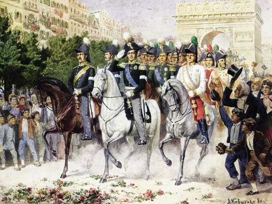 1814. Вступ в Париж