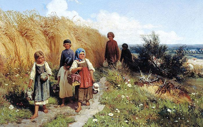 Жнитво. Художник Олексій Кившенко