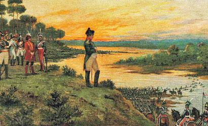 Наполеон на березі Немана. Вторгнення в Російську іиперію