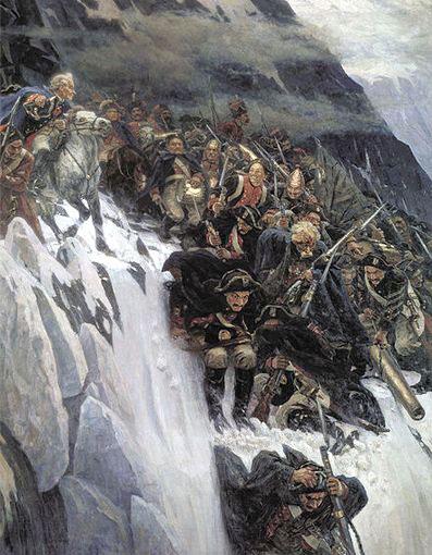 Швейцарський поход Суворова. Перехід через Альпи