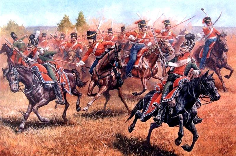 Лейб-гвардійські козаки атакують вестфальську кінноту