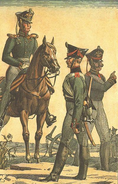 Кінні та піші артилеристи Російської армії