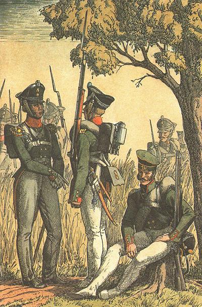 Піхотинці та єгері Російської армії