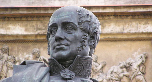Фрагмент пам`ятника фельдмаршалові М.Б.Барклаю де Толлі