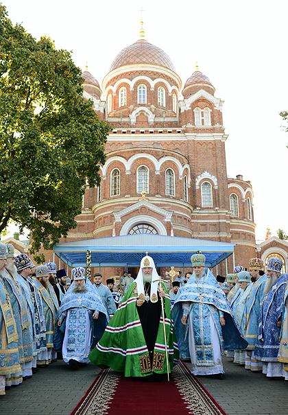У річницю Бородинської битви Предстоятель Руської Церкви звершив Літургію у Спасо-Бородинському монастирі