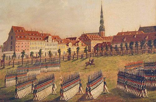 Рига у 1812 році. Малюнок XIX ст.