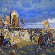 1812. Молебень на Бородинському полі. З картини Максима Фаюстова