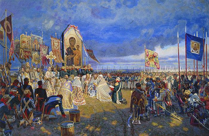 1812. Молебень на Бородинському полі. Художник Єгор Зайцев