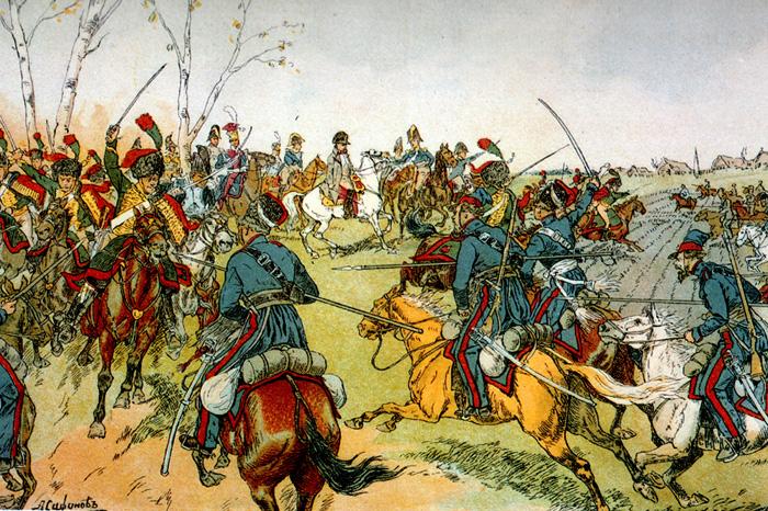 Козаки атакують конвой Наполеона