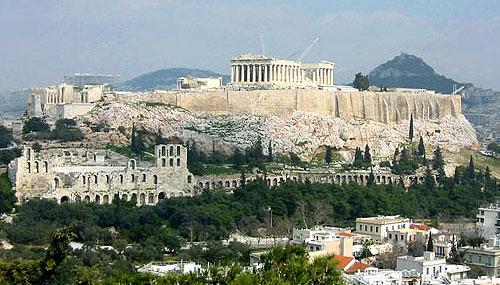 Афіни - столиця Греції. Вид на Акрополь