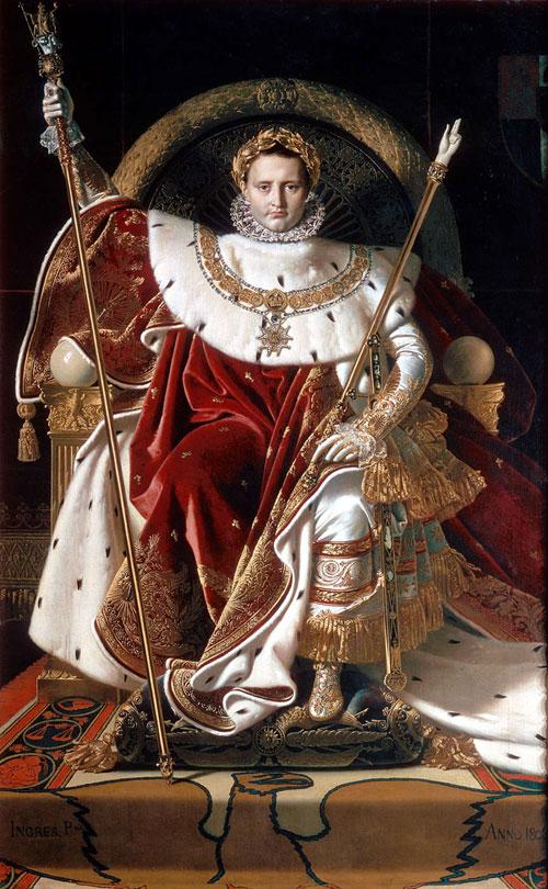 Напоеон Бонапарт на імператорському троні. Картина Жана-Августа-Домініка Інгреса, 1806р.