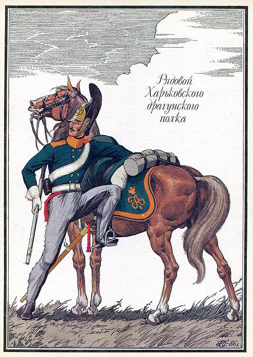 1812. Рядовий Харківського драгунського полку