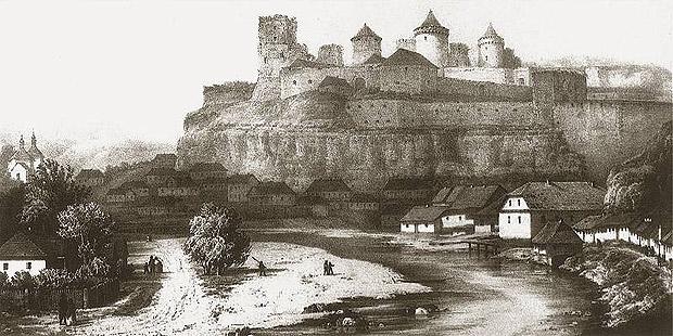 Кам'янець-Подільський. Малюнок початку XIX ст.