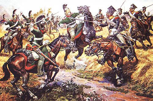 Київський драгунський полк в бою з польськими уланами Наполеона