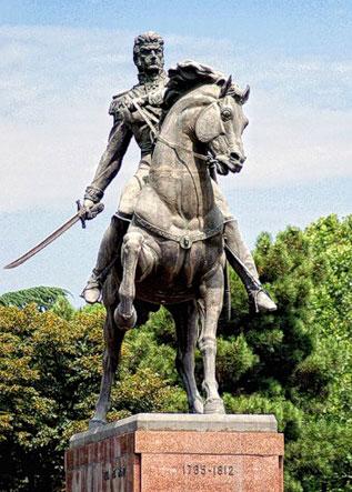 Тбілісі. Пам`ятник князю Багратіоні