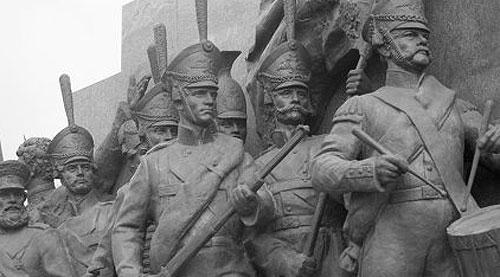 Фрагмент скульптурної групи пам`ятника М.І.Кутузову у Москві