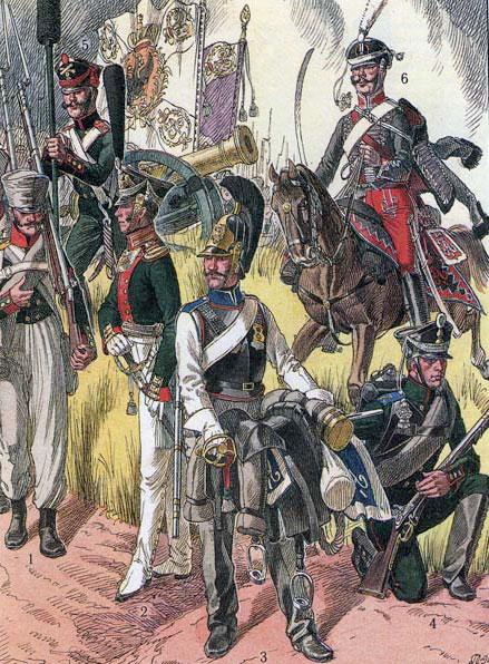 Офіцери та солдати Російської Імператорської армії часів Вітчизняної війни 1812 року та Визвольних походів 1813-1814 років