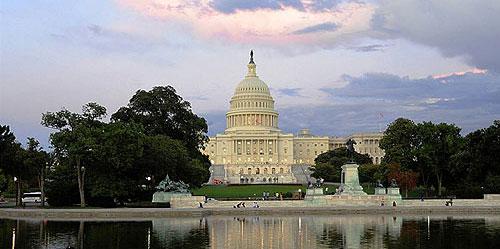 Вашингтон. Столиця США. Вид  на Капітолій