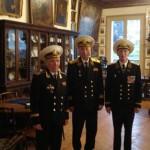 Представники Клубу адміралів у Музеї Лейб-гвардії Козачого полку