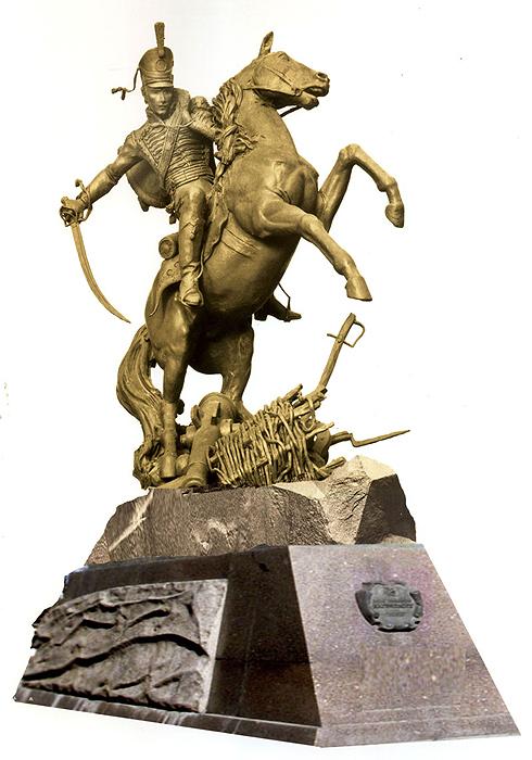Проект пам'ятника Маріупольському гусарському полку