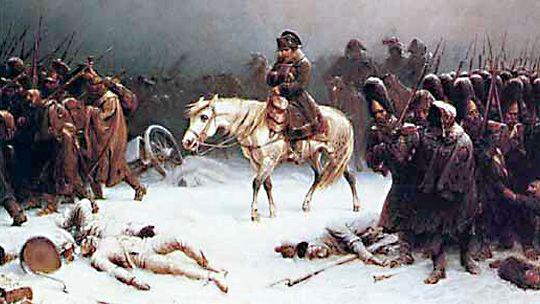 Napoleons Rückzug aus Moskau, gemalt von Adolf Northern