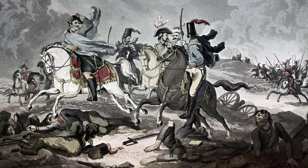 Французи тікають від козаків. Малюнок  XIX ст.