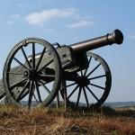 Французька гармата. Фото з реконструкції у Славкові-Аустерлиці (Чехія)