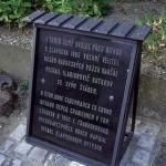 Кутузівська меморіальна дошка. Фото з реконструкції у Славкові-Аустерлиці (Чехія)