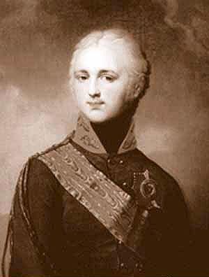 Олександр I. Гравюра кінця XVIII - початку XIX  ст.